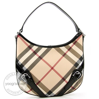 Burberry Classic Nova Check Small Barton Hobo Bag