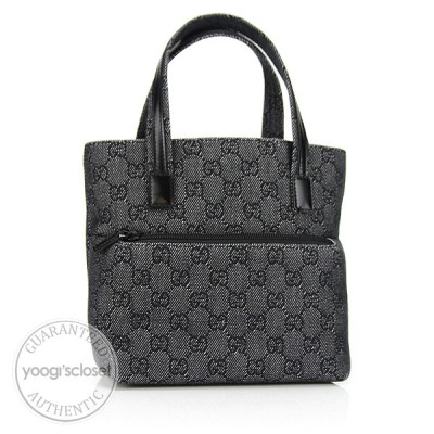 Gucci Denim GG Fabric Mini Tote Bag