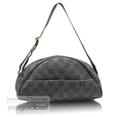 Gucci Denim GG Fabric Pochette Bag