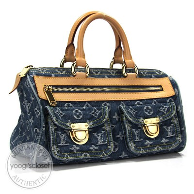 Louis Vuitton Blue Denim Monogram Neo Speedy Bag