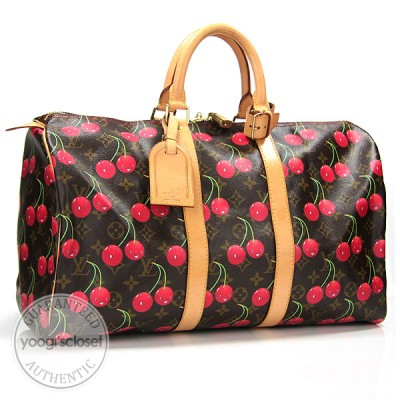 Louis Vuitton Monogram Cerises Cherry Keepall 45 Travel Bag