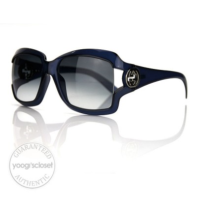 Gucci Dark Blue Opal Gradient Lenses Sunglasses 2598/S