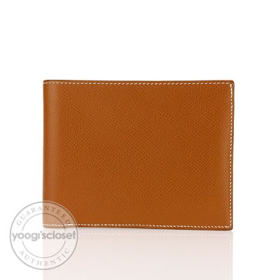 Hermes Gold Epsom Leather MC2 Wallet