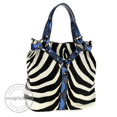 Jimmy Choo Zebra Print Pony Hair Shopper Tote Bag