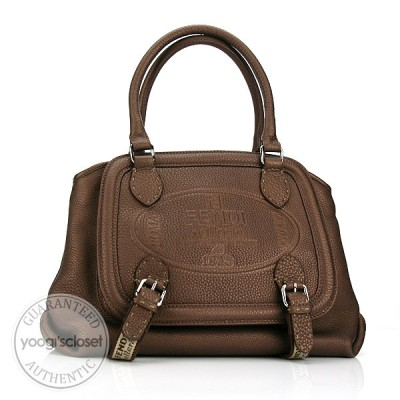 Fendi Brown Selleria Leather Satchel Bag