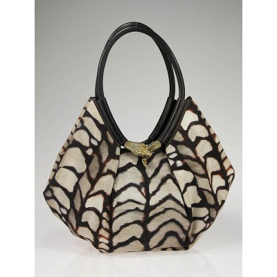 Jimmy Choo Shell Print Canvas Tote Bag