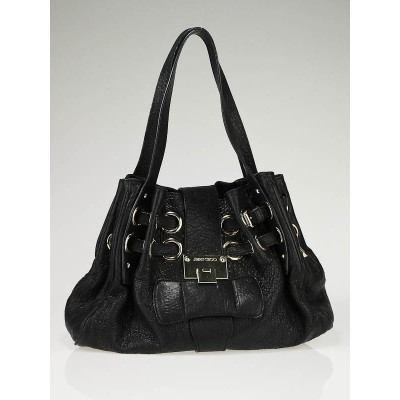 Jimmy Choo Black Drummed Leather Ramona Bag