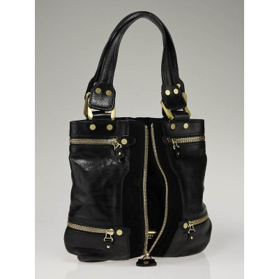 Jimmy Choo Black Leather Mona Tote Bag
