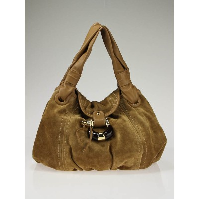 Jimmy Choo Hazel Suede Simone Hobo Bag
