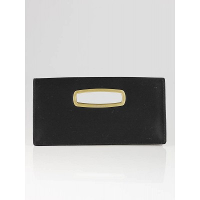 Jimmy Choo Black Satin Clutch Evening Bag