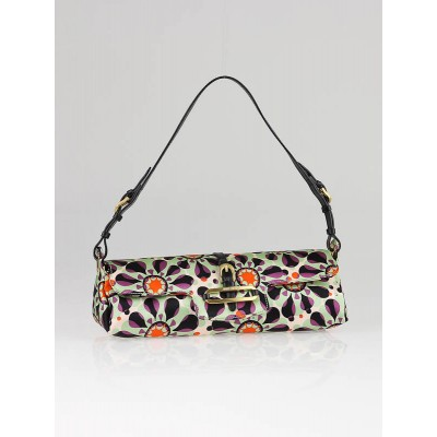 Jimmy Choo Multicolor Silk Cleo Print Shoulder Bag