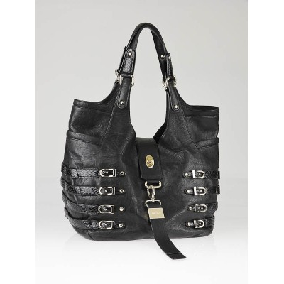 Jimmy Choo Black Biker Leather Medium Bree Bag