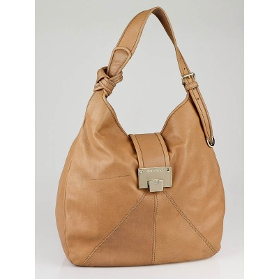 Jimmy Choo Tan Leather Rahmyn Hobo Bag