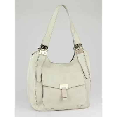 Jimmy Choo Ivory Leather Paige Hobo Bag