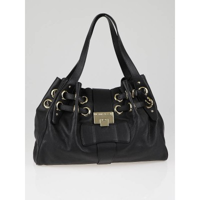 Jimmy Choo Black Calfskin Leather Ramona Bag