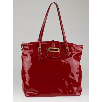Jimmy Choo Red Patent Leather Large Tote Bag
