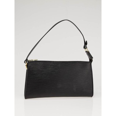 Louis Vuitton Black Epi Leather Pochette 24 Bag