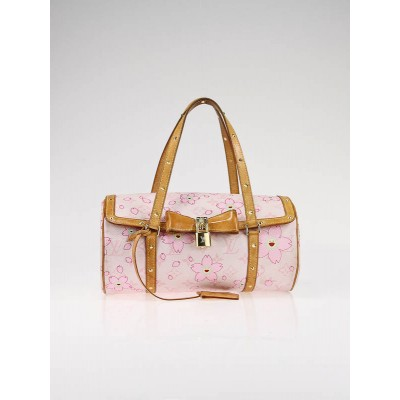 Louis Vuitton Limited Edition Pink Cherry Blossom Monogram Canvas Papillon Bag