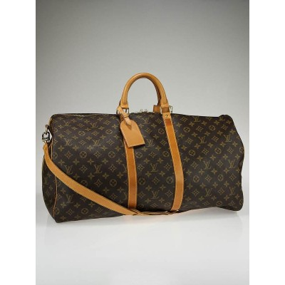 Louis Vuitton Monogram Canvas Keepall 55  w/ Shoulder Strap