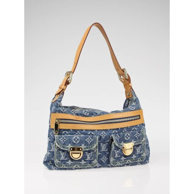 Louis Vuitton Denim Monogram Denim Baggy PM Bag