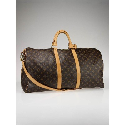 Louis Vuitton Monogram Canvas Keepall 55 w/Shoulder Strap