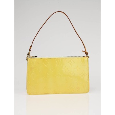 Louis Vuitton Mango Yellow Monogram Vernis Lexington Bag
