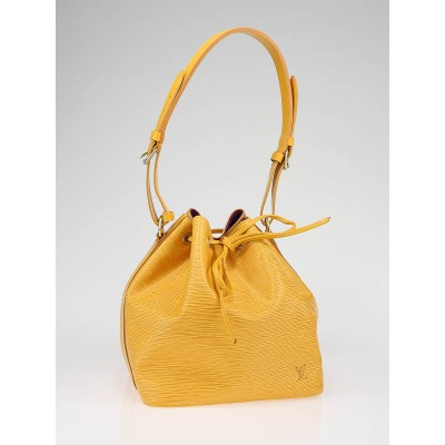 Louis Vuitton Tassil Yellow Epi Leather Petite Noe Bag