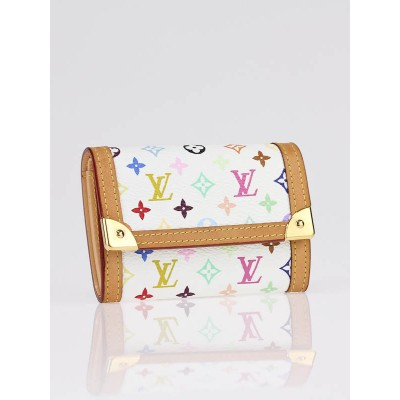 Louis Vuitton White Monogram Multicolor Port-Monnaie Plat