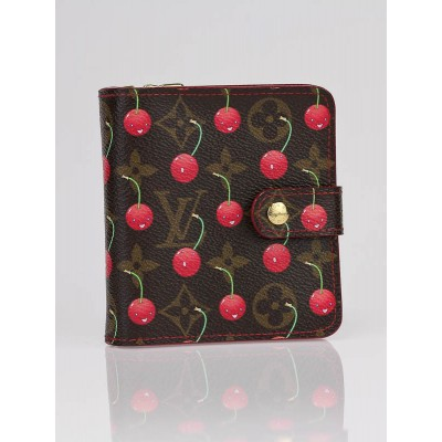 Louis Vuitton Limited Edition Cerises Monogram Compact Zippy Wallet