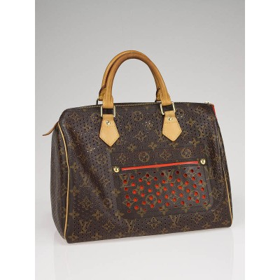 Louis Vuitton Limited Edition Orange Monogram Perforated Speedy 30