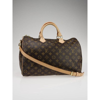 Louis Vuitton Monogram Canvas Speedy 35 Bag w/Strap
