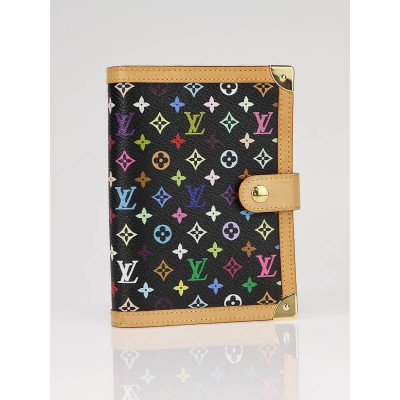 Louis Vuitton Black Monogram Multicolor Small Agenda Book
