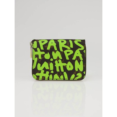Louis Vuitton Limited Edition Very Green Graffiti Stephen Sprouse Zippy Coin Purse