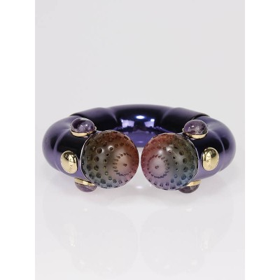 Louis Vuitton Limited Edition Purple Metal Plumber Bracelet