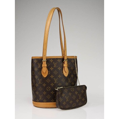 Louis Vuitton Monogram Canvas Petite Bucket Bag with Accessories Pouch
