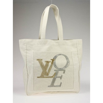 Louis Vuitton Limited Edition Tan Canvas That?s Love Large Tote Bag