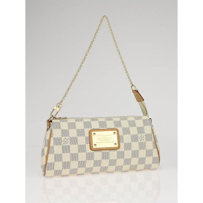 Louis Vuitton Azur Damier Canvas Eva Clutch Bag w/strap