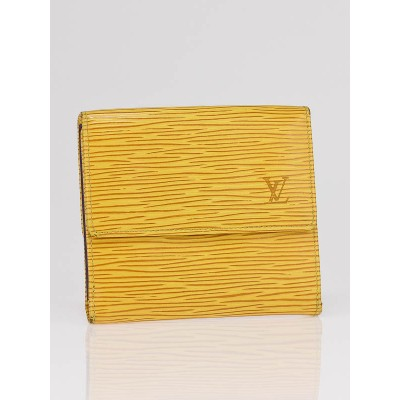 Louis Vuitton Tassil Yellow Epi Leather Elise Wallet