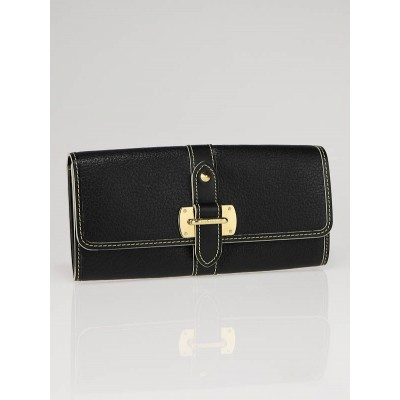 Louis Vuitton Black Suhali Leather Le Favori Wallet