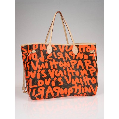 Louis Vuitton Limited Edition Orange Stephen Sprouse Graffiti Neverfull GM Bag