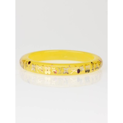 Louis Vuitton Yellow Monogram Inclusion TPM Bracelet Size M