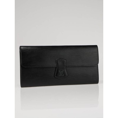 Louis Vuitton Black Epi Leather Travel Jewelry Clutch Case