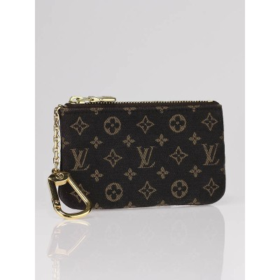 Louis Vuitton Ebene Monogram Mini Lin Pochette Cles Key Holder