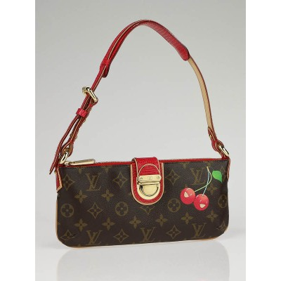 Louis Vuitton Limited Edition Cerises Lizard Pochette Bag
