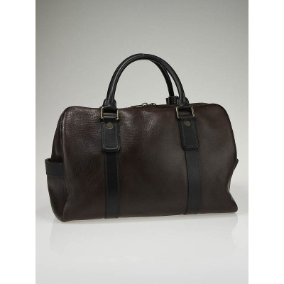Louis Vuitton Coffee Utah Leather Carryall Bag