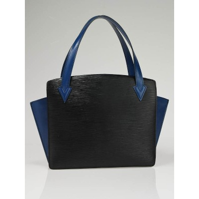 Louis Vuitton Black/Blue Epi Leather Accordion Small Tote Bag