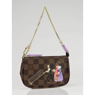 Louis Vuitton Damier Canvas Illustre Mini Accessories Pochette Bag