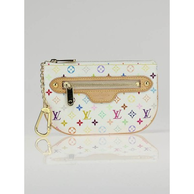 Louis Vuitton White Multicolore Monogram Mini Pochette