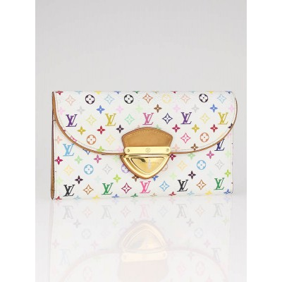 Louis Vuitton White Monogram Multicolor Eugenie Wallet