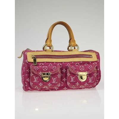 Louis Vuitton Fuchsia Denim Monogram Denim Neo Speedy Bag